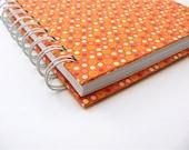 5 x 6 Blank Journal / Modern Retro orange, pink, geometric