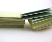 30 Guest Book, Business or Gift Card Envelopes and Inserts - Elegance in light yellow, blue, green