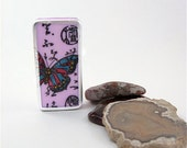 Butterfly Domino Fridge Magnet / purple woodland ethereal