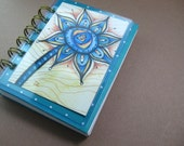 Turquoise Handmade Mini Journal and ACEO holder
