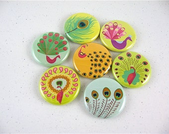 Peacock Fridge Magnets for magnabilities and other magnetic surfaces 1160