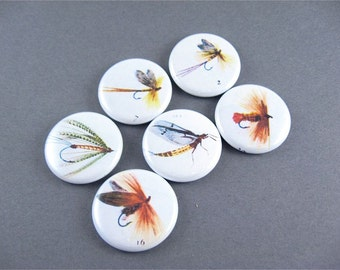 Fly Fishing Fish Magnets - Six magnets for your man / Home Living, Storage Organization, Magnets Magnet Board / 1136