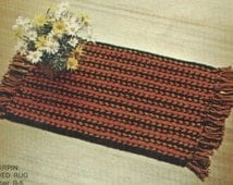 Crocheted Rug Pattern in Hairpin Lace R5  PDF - Fun for the Winter