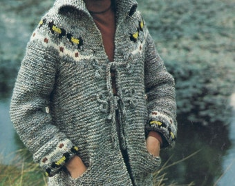 Knit Coat with Matching Hat