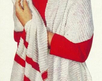 Vintage Knit Stole Pattern - PDF - CHEERLEADER