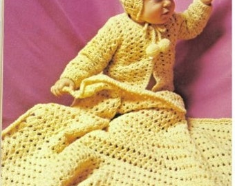 Crocheted Baby Layette EASY   PDF