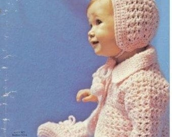Crocheted Baby Set Pattern EASY  PDF