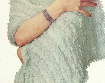Vintage Hairpin Lace Stole Pattern - PDF - RIVIERA