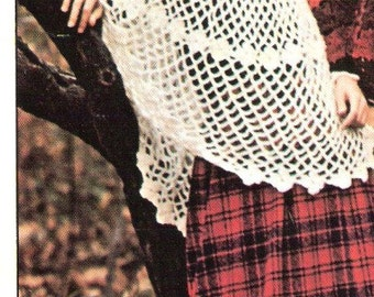 PONCHO - Crochet Poncho Pattern - COUNTRY MISS