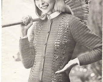SWEATER - Crochet Openwork Sweater Pattern