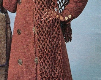 Knit Double Breasted Coat Pattern -  WINNER