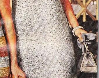 SILVER SKIMMER- Crochet Sleeveless Dress pattern