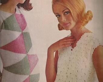 Knit Sheath Dress Pattern (ON LEFT)  (MS65)