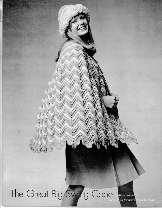 vintage ripple crochet swing cape pdf by suerock on etsy. Black Bedroom Furniture Sets. Home Design Ideas