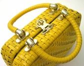 Hello Sunshine - Basket Weave Handbag
