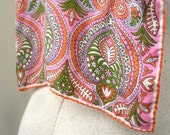 Vera Neumann Paisley Pink Scarf