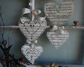 To Have and To Hold - Vintage Music Bride and Groom Hearts