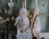 Charm - Abandoned Shabby Boho Chic Vintage Crochet Bag OOAK