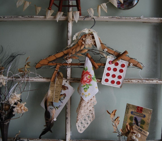 Hung Up On You - Vintage Shabby Chic Style Wooden Hanger Display
