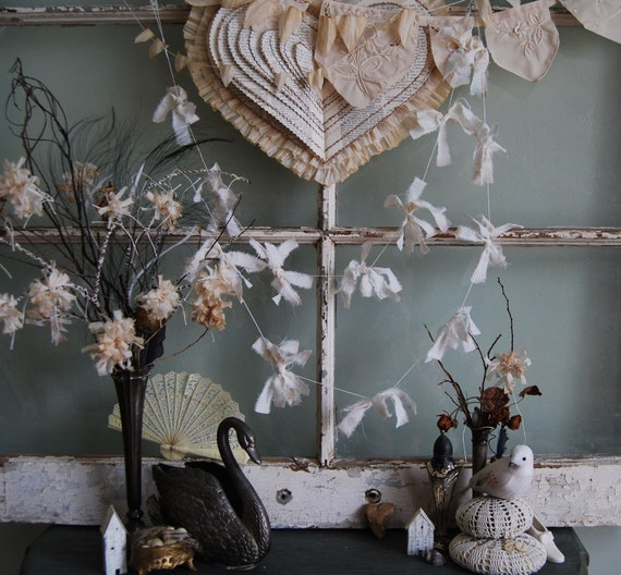 Charmed - Vintage Shabby Chic Fabric Garland