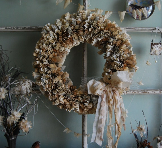 Books Let Us Into Their Souls - Vintage Book Page Wreath