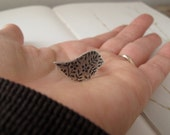 sterling silver bird ring - modern peace dove