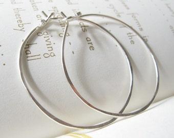 Happy Hoops - modern sterling silver hoop earrings endless hammered hoops