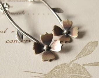 Long Stem Flower Earrings