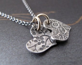 two hearts necklace - in love