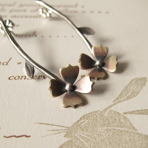 Long Stem Flower Earrings