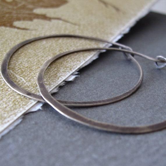 modern sterling silver hoop earrings