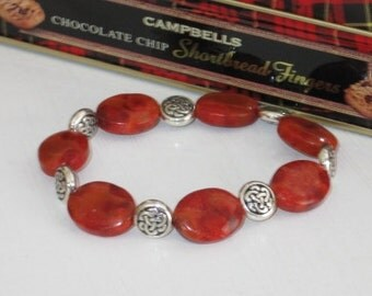Coral Carrousel - Stretch Bracelet