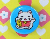 Lucky Cat 1 Inch Badge