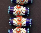 Beautiful Blue Set of 25 Artisan Lampwork Beads