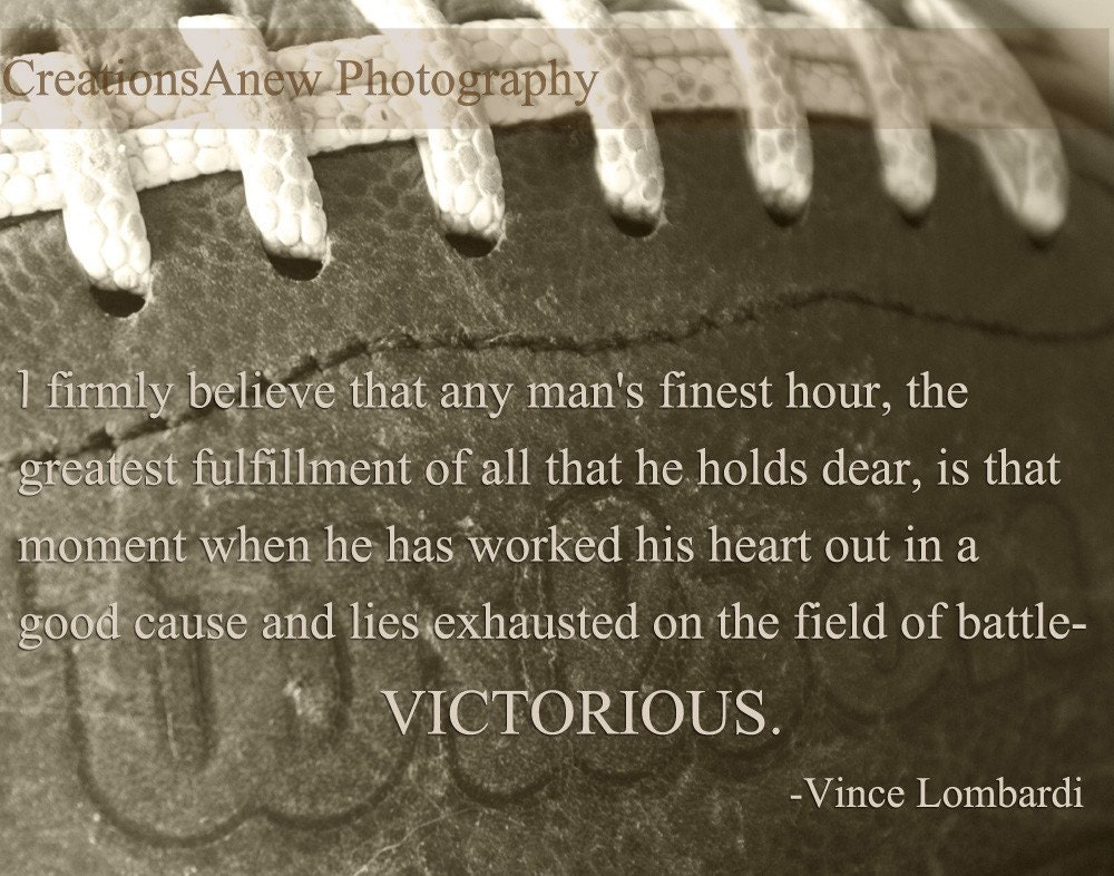 5x7 Photography Football In Sepia And Lombardi By