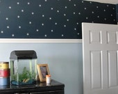 Starry night vinyl wall decals for Boy's Room
