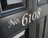 Front Door house numbers vinyl lettering