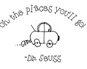 Oh, the places you'll go vinyl wall decal, lettering