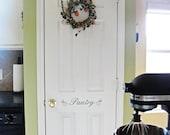 Pantry Door vinyl decal/lettering