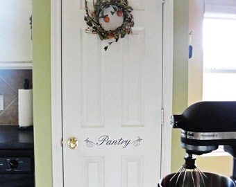 Pantry Door vinyl decal/lettering