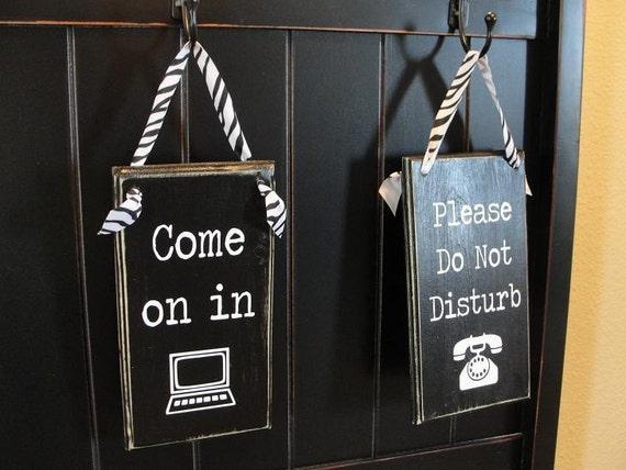 Home office do not disturb sign