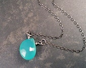 Lydia Necklace - Chalcedony and Sterling Silver