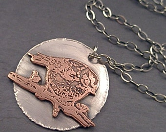 Julia Necklace - Copper and Sterling Silver