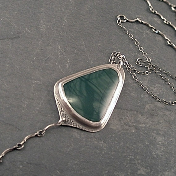 Bianca Necklace - Imperial Jasper and Sterling Silver