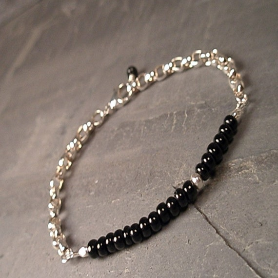 Megan Bracelet - Trade Bead and Sterling Silver