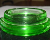 Collectible Glass Green Glass Insulator Caster Chair foot Caster Miniature Flower Vase Candle Holder