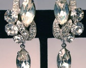 Vintage Glam Eisenberg Glitzy Rhinestone Earrings