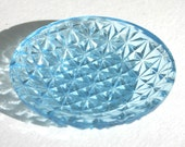Blue Fenton Crystal Cut Salt Cellar