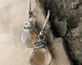 Smoky Quartz Pear Briolette Earrings