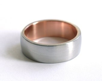 Palladium and Rose Gold Wedding Band - Seamless